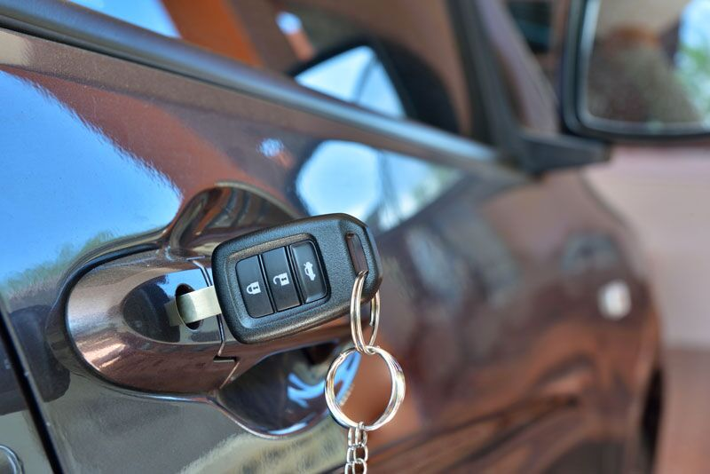 car key unlocking door
