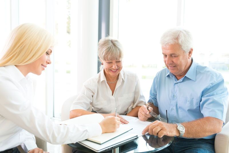 older couple reviewing their life insurance